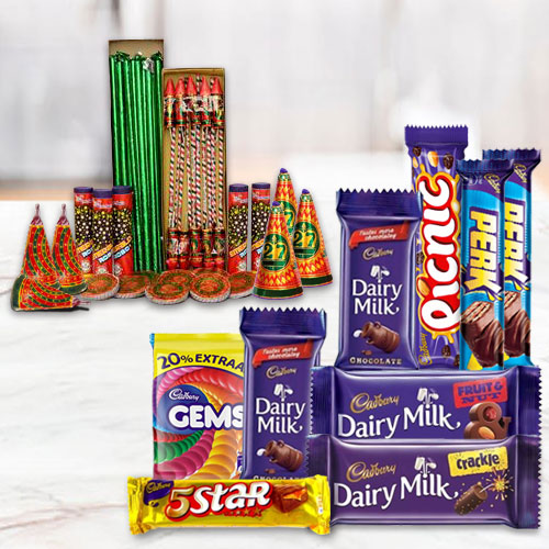Dazzling Combo of Assortment Cadbury Chocolates and Crackers