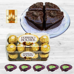 Ferrero Rocher with Chocolate Pastry