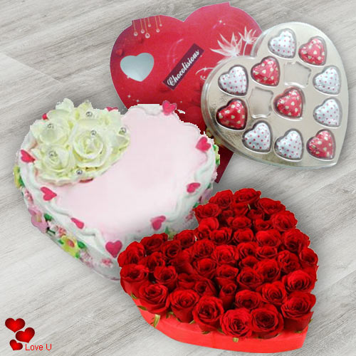 Send Online Roses, Cake N Chocolates for Chocolate Day