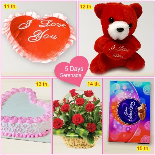 Send Valentine Gift of 5 Day Serenades for Lady Love