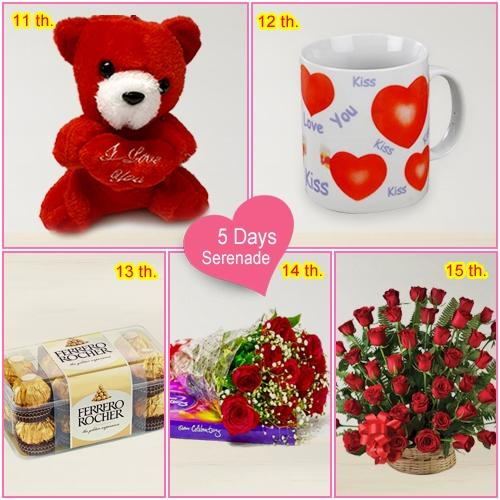 Deliver 5 Day Serenade Gift Online