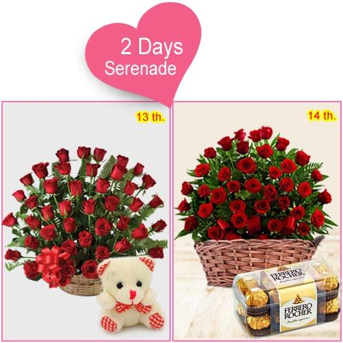 Send V Day Special 2-Day Serenade Gift for Lady Love