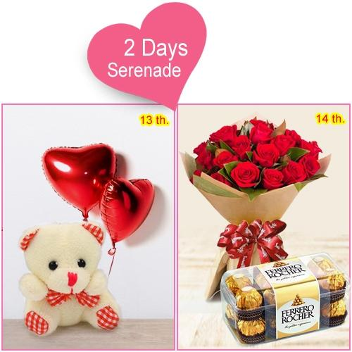 Online Delivery of 2-Day Serenade for Valentine