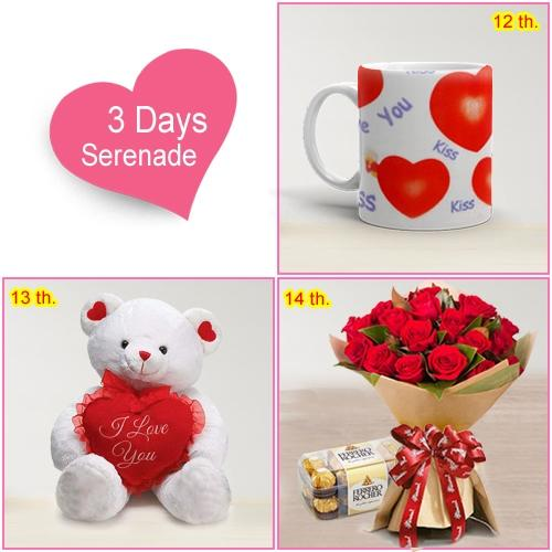 Online 3-Day Serenade Gift for Valentine