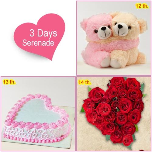 Send Exciting 3-Day Serenade Gifts Online