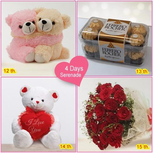 Order 4-Day Serenade Gift meant for Women