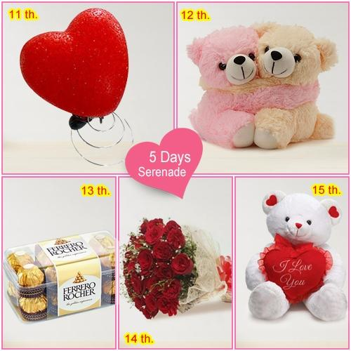 Order 5 Day Serenade Gift for Sweetheart