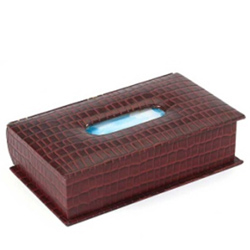 Impressionable Genuine Leather Tissue Box