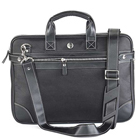 Exquisite Faux Leather Made Laptop Bag in Black