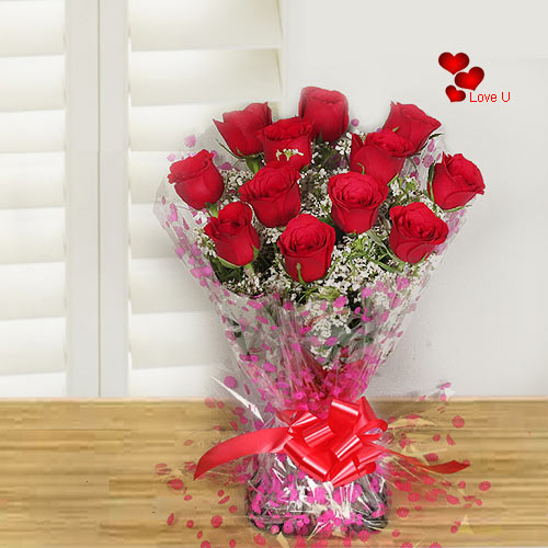Shop for Red Roses Handbunch for Sweetheart