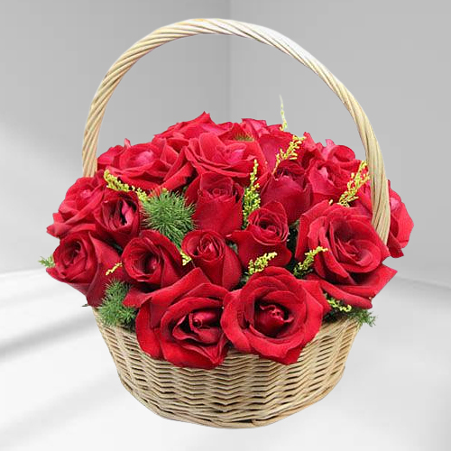 Arrangement of Archangelic Red Roses online