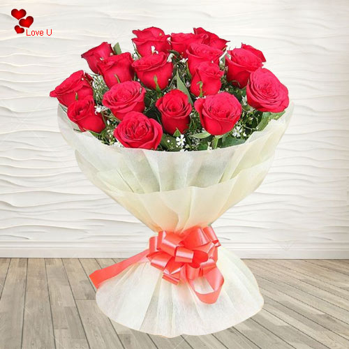 Order Dutch Roses Hand Bunch for V-Day
