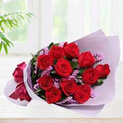 Premium Love 12 Red Roses Bunch