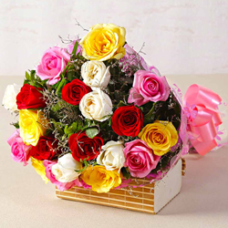 Elegant Assortment of Mixed Roses