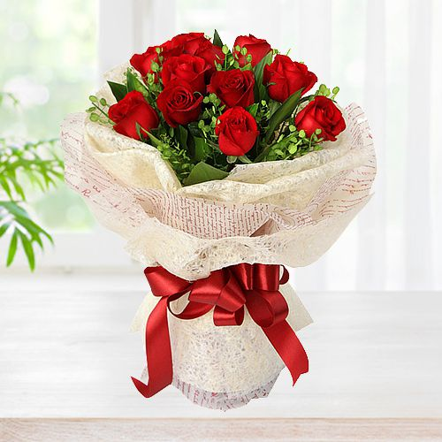 Gift Red Roses Bouquet Online
