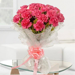 Shop for a ravishing Tissue Wrapped Hand Bouquet of Pink Carnations