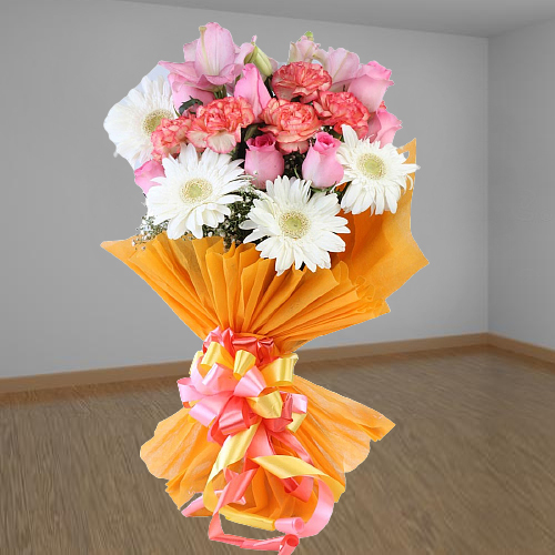 Lovely Assorted Flowers Bouquet