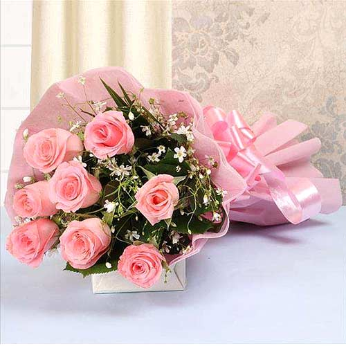 Pretty Pink Roses Bouquet
