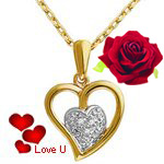Classic Heart Shaped Golden Pendant