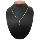 Ethnic Elegance Gold Plated Necklace with Twirling Lights Pendant