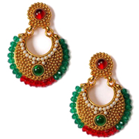 Scintillating Wedding Design Earring Set