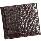 Chris Brown Shaded Crocodile Skin Styled Genuine Leather Gents Wallet from Leather Talks