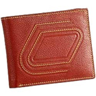 Stylish Zig Zag Designed Genuine Leather Brown Gents Leather Talks Wallet