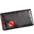 Black & Red Sunrise Designed Genuine Leather Ladies Wallet from Leather Talks