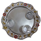 Marvelous Meenakari Aarti Thali with Hint of Festivity