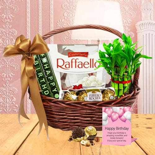 Exquisite Happy Birthday Surprise Gift Basket<br>