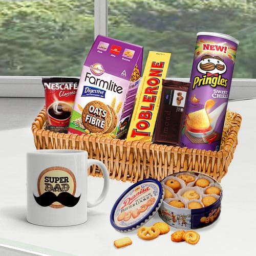 Blissful Fathers Day Special Gift Basket<br>