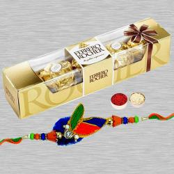 Captivating Rakhi with Ferrero Rochers