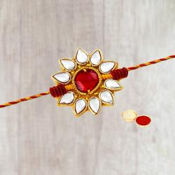 Fantastic 1 Muticoloured Stone Rakhi in Round Shape