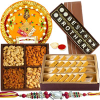 Astonishing Gift of Badam Barfi from <font color=#FF0000>Haldiram</font>s, Mixed Dry Fruits, Homemade Chocolate and Shree Thali