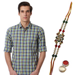 Timeless Appeal Peter England Shirt with Rakhi Gift Combo