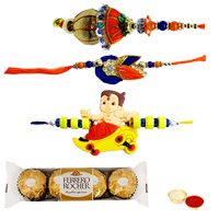 Fantastic Family Rakhi Set with Ferrero Rocher Chocolates