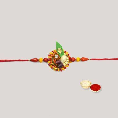 Scintillating Bond of Love with Beaded Thread Rakhi