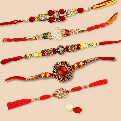 Trendsetting Wrist Band of Regular Rakhi Set