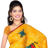 Astonishing Women�s Georgette Printed Saree from Suredeal
