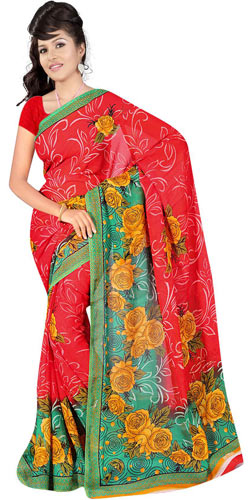 Trendsetting Suredeal Georgette Saree for Lovely Women
