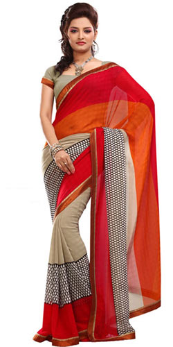 Trendsetting Faux Georgette Saree