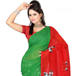 Trendsetting Faux Gorgette Printed Saree