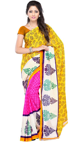 Suave Spell Faux Georgette Saree