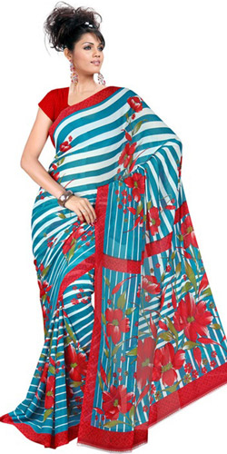 Lively Blush Chiffon Saree