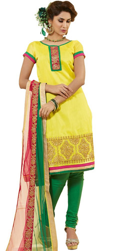 Cultured Vigor Chanderi Dress Material
