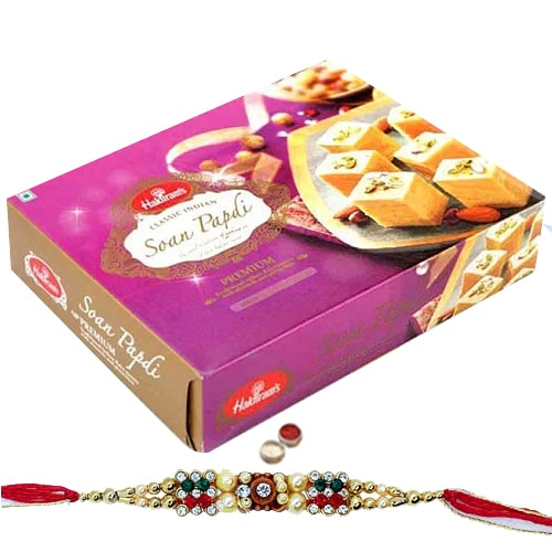 Soan Papdi from <font color=#FF0000>Haldiram</font> with 1 Free Rakhi,