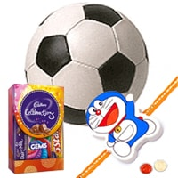 COSCO Football with Rakhi and Roli Tilak Chawal
