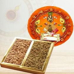 Traditional Puja Thali with Pack of Dry Fruits