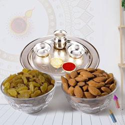 Marvelous Pooja Thali with Assorted Dry Fruits