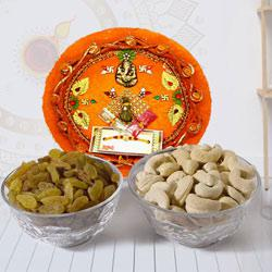 Exquisite Pooja Thali with Mixed Dry Fruits